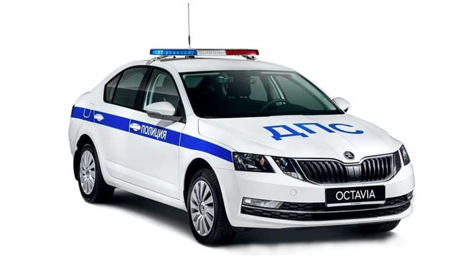 Шкода Октавия ДПС полиция 2