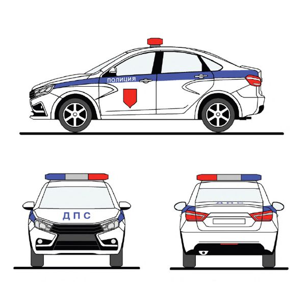 Цветографическая схема ДПС полиция госавтоинспекция