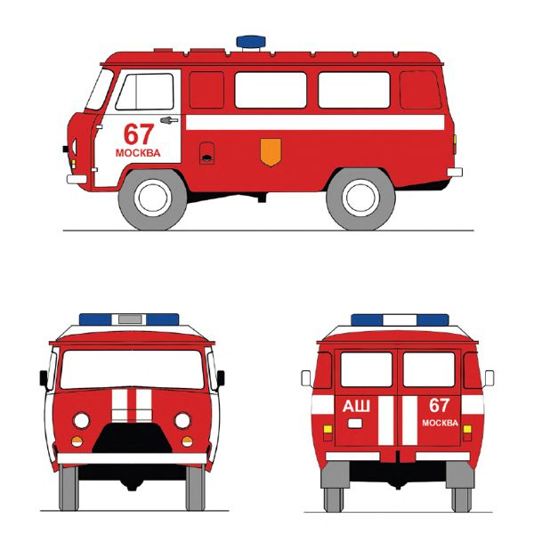 Цветографическая схема пожарная охрана