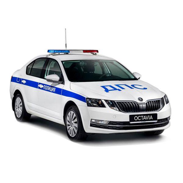 Наклейки ДПС полиция Шкода Октавия