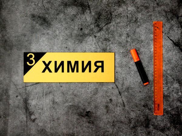 Табличка химия на дверь кабинета купить
