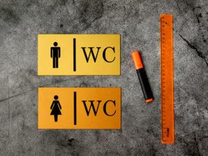 Табличка туалет купить